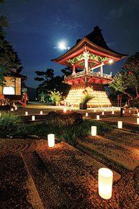 毎年、町内外から多くの人が訪れる月夜野のお月見会「指月会」=みなかみ町の禅寺「大峰山 嶽林寺」