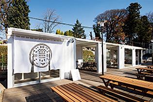 るなぱあくの真ん中にできたカフェ「おむすびのマム」=前橋(撮影:木暮伸也)
