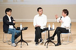 今月7日に開かれた「第2回めぶくトーク」。撮影 木暮伸也