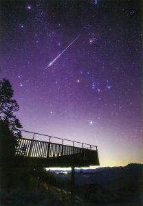 冬星座と流れ星